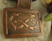 Celtic Hounds in Copper,  Irish Celtic Jewelry, Celtic Knot Jewelry, Book Of Kells
