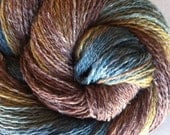 Handspun Yarn - Merino/Shetland/Flax Fingering Weight