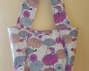 The Eunice Mums - OOAK Tote