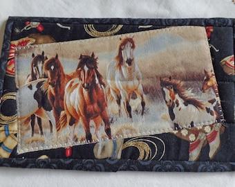 Mug Rug. Candle mat. Horse mug rug 2.  Snack mat.
