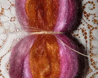 Hand Dyed Glitter, Sparkle Nylon Top / 0.9 oz. / Breathing Roses