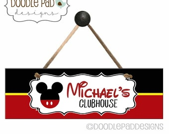 Disney Clubhouse Door Sign