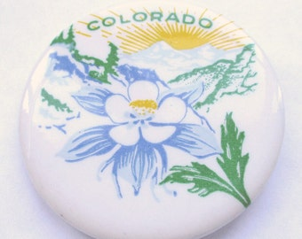 Colorado State Button Pin