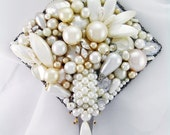 Half Off Sale Hand Mirror - Pure Pearlessence - Repurposed Jewelry - M001009
