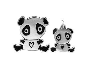 Two Kids Panda Necklace - Three Panda Set