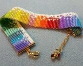 Rainbow speckles bracelet