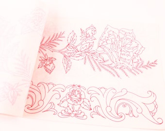 Book of 1960's Transfer Designs for Pillowcases & Fabric Vintage Book  ~ The Pink Room ~ 170109