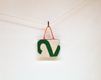 Nautical Recycled Sail Cloth Purse - Green Number 2