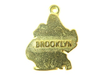 Raw Brass Brooklyn New York Borough Charms (2X) (K613-A)