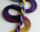 "Size 20 ""Pansy"" hand dyed thread tatting crochet cotton"