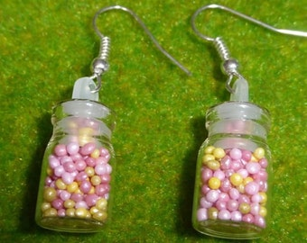 Candy Sprinkles Jar Earrings