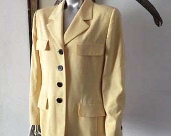 90s Escada Oversized Blazer in Sunny Yellow