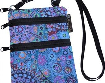Ella Bella Purse - Cross body Purse - 3 Zippered Pockets - Adjustable Strap - Washable - FAST SHIPPING - Cell Phone Purse - Murano Glass