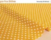 Japanese Fabric Polka Dots dobby - yellow - 50cm