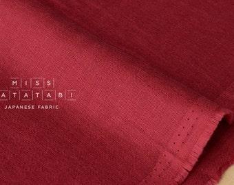 Japanese Fabric - Kobayashi solid double gauze - red - 50cm