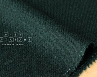 Japanese Fabric Wool Twill - forest green - 50cm