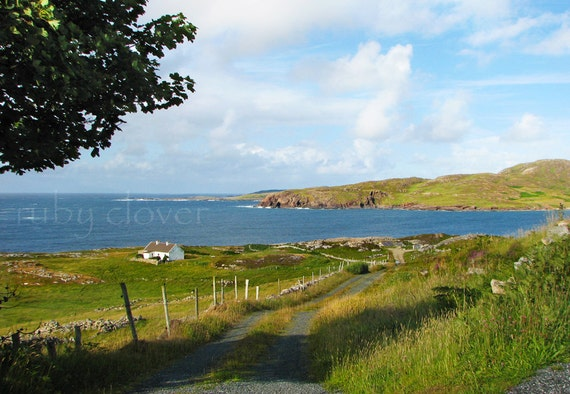 Cottage on the Sea, Co. DONEGAL, Nice Irish Gift, Ireland Souvenir, Irish Decor, Travel Photography, Ireland Photo Card, Rosapenna,