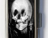 SKULL ILLUSION Business Card Holder Card Case VANITY