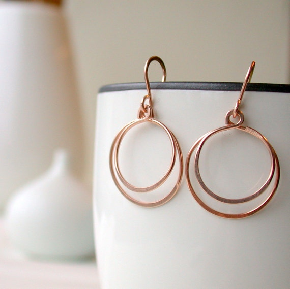 Medium Double Hoops