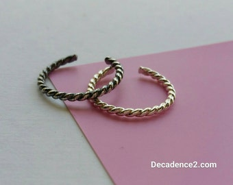 Sterling Silver Toe Ring- Twisted