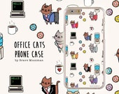 Office Gift Galaxy Note 5 Case Office Cats Cute iPhone 6s Samsung Galaxy S6 Case