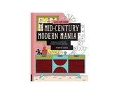 SALE Mid-Century Modern Mania Coloring Book