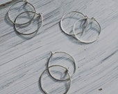40% OFF CLEARANCE Endless hoop - hand hammered silver hoops earrings - easy - simple - beautiful