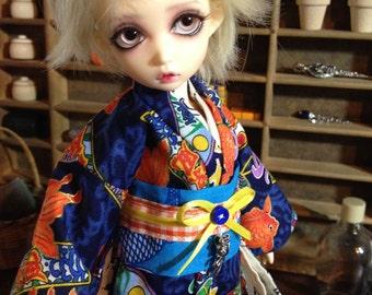 Goldfish Festival Kimono and obi for 1/6th 26cm YOSD BJD