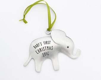 beehive 2016 elephant baby's first christmas ornament