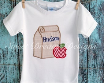 """Boys """" Grab your sacked lunch"""" back to school shirt. Long or short  sleeve available."""