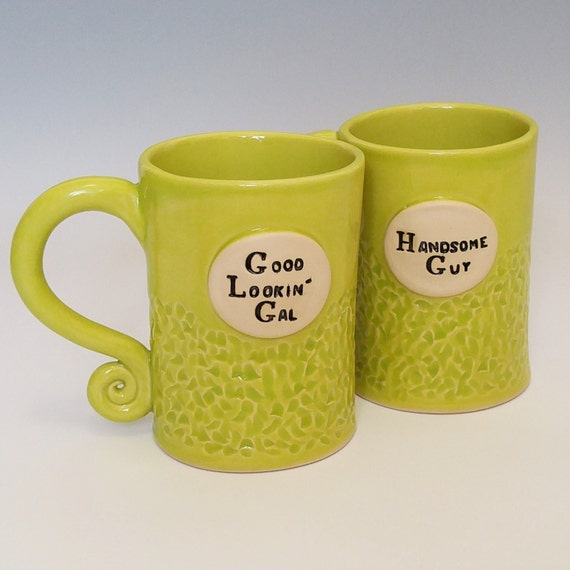 Coffee Mug - Large Coffee Mug - Stoneware Mug - Ceramic Coffee Mugs - Handmade Coffee Mugs - Pottery Coffee Mugs - Set of 2 Mugs - Funny Mug