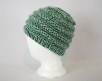 Rib Stripe Bulky Hat knitting PATTERN - three 3 sizes warm bulky knit rib stocking hat toque beanie - permission to sell finished items