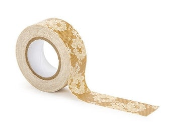 David Tutera BURLAP & LACE or BURLAP design duct tape 2 rolls  10 yards/roll