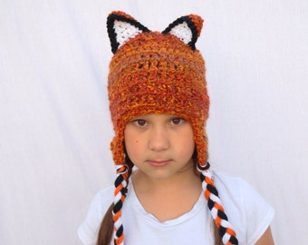 Fox Hat in Wild Fire for Children, What Does the Fox Say, Fox Costume, Woodland Orange, Sly Fox with Ears
