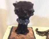 On hold cat Ooak  art doll