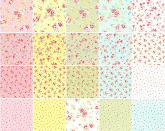Antique Flower Pastel Sushi Roll by Lecien Fabrics  42 2.5inch Strips