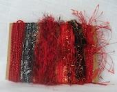 Red Black Yarn Scraps Valentine Craft Supplies 1226