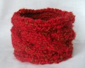 Headband Knit Red Gold Spring Winter