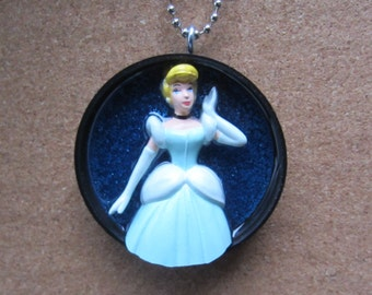 In all her finest -  Upcycled Doll Pendant