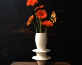 Ships Now-  flanged vase in white matte