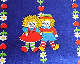 Vintage Cotton Raggedy Ann and Andy Fabric