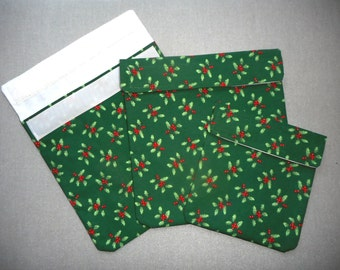 Christmas Holly Sandwich and Snack Pockets Set of 3