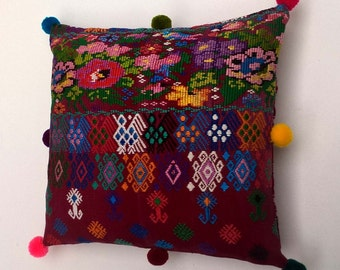 Stock Clearance Bargain - Vintage Embroidered Mexican Textile Cushion / Pillow Cover