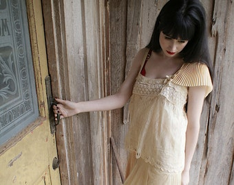 The Divinity Dress Fabulous Slip Dress all 20s fabrics up cycled vintage