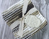 Hand Knit Dishcloth, Hand Knitted Dish Cloth, Hand Knit Washcloth, Hand Knitted Wash cloth - Hot Cocoa