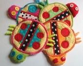 Ladybug fabric drink coasters