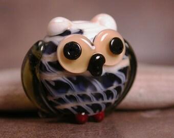 Lampwork Owl Bead Lampwork Divine Spark Designs SRA