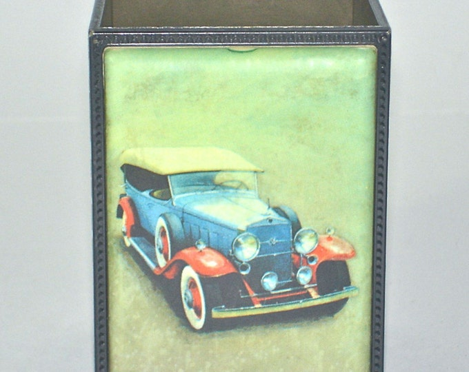 Vintage Springbok Pen Pencil Holder 1931 Cadillac Touring Phaeton