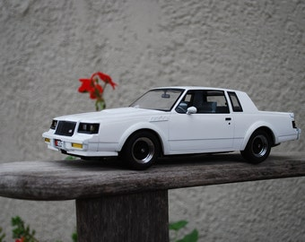 Vintage Die Cast Model Car Buick  Grand National White Plate #854