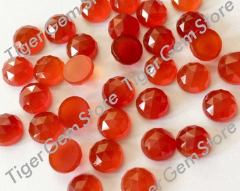 Gemstone Cabochon Red Onyx 10mm Rose Cut FOR TWO